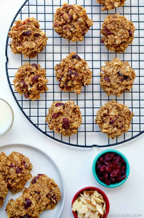 Quick and Healthy Breakfast Cookies on a Baking Rack