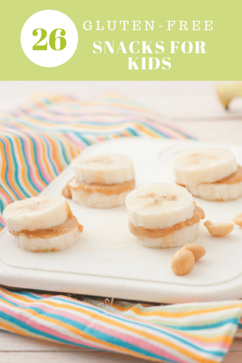 Pinterest Image Peanut Butter Banana Bites GLuten Free Snacks for Kids