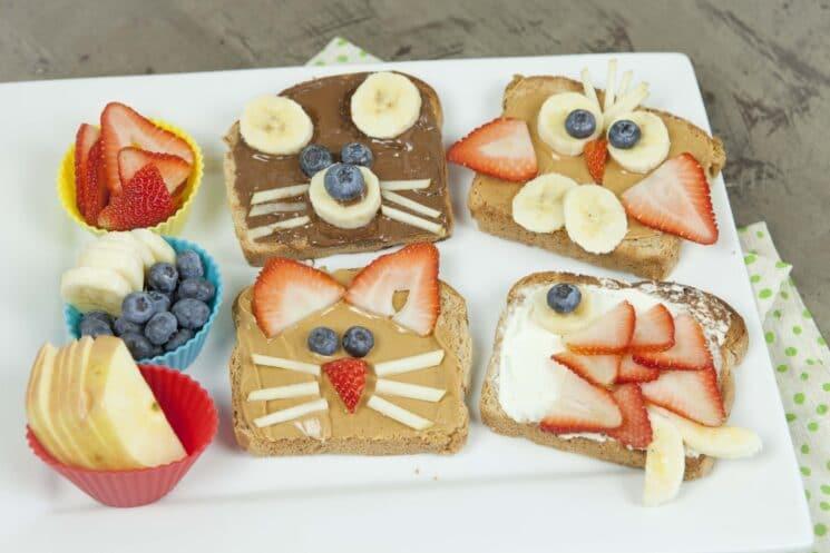 animal toast- fun food idea