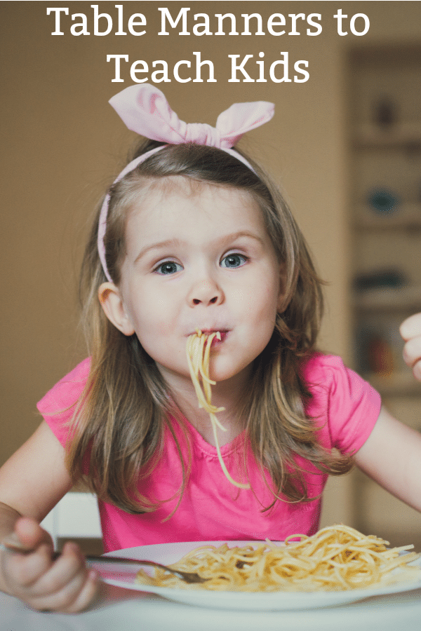 Top 10 table manners for kids
