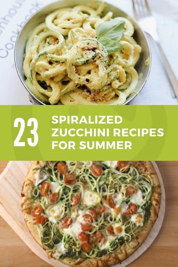 spiralized zucchini recipes for summer