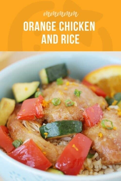 orange chicken and rice recipe delicious