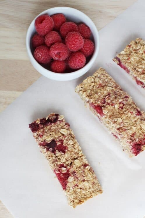 Raspberry Apple Granola Bars