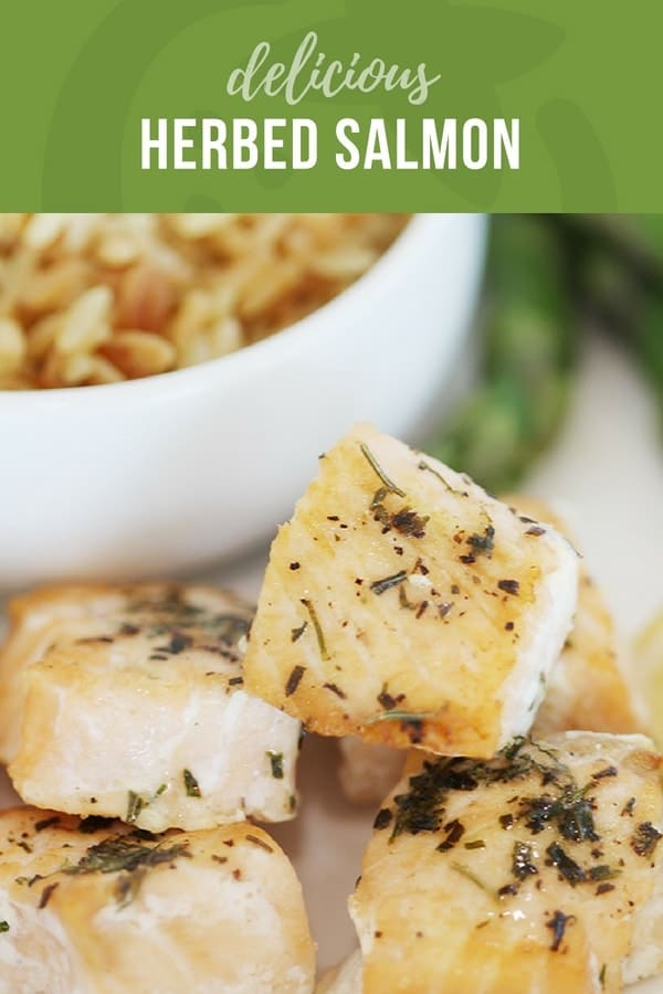 kid friendly herbed baked salmon for kids