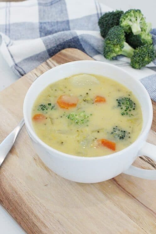 slowcooker cheesy vegetable soup