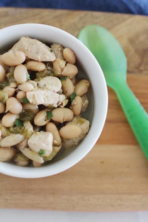 White Bean Crockpot Chicken Chili Super Healthy Kids