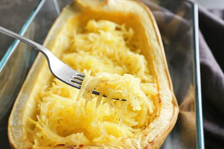Cooked Spaghetti Squash Half