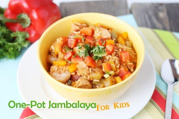 jambalaya in a yellow bowl