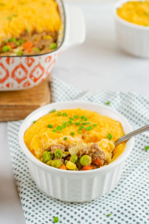 shepherd's pie with sweet potato topper