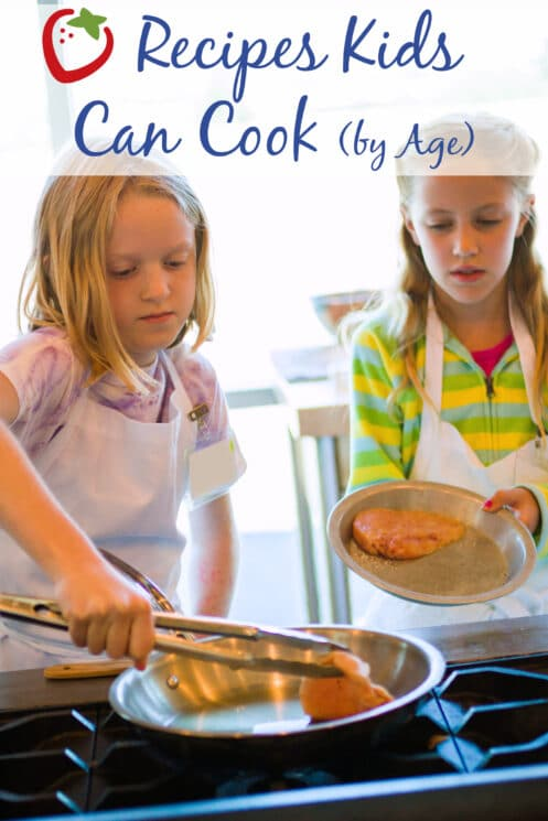 kids learning to cook chicken