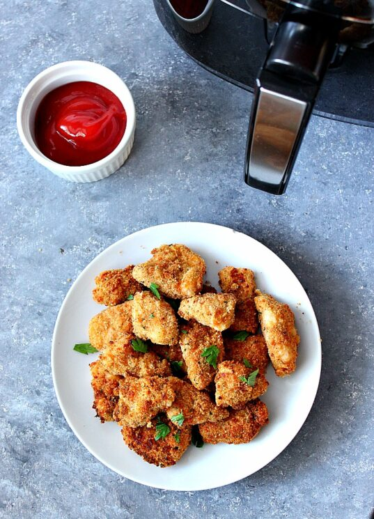 air fryer chicken nuggets with ketchup