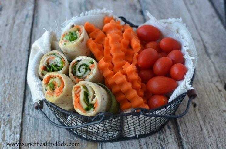 veggie wrap lunch idea