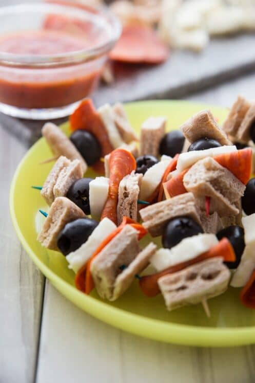 pizza kebabs lunch idea