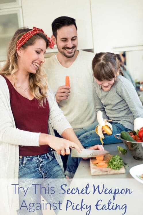 healthy family cooking together