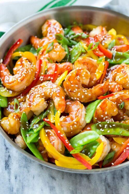 teriyaki veggie shrimp stir fry