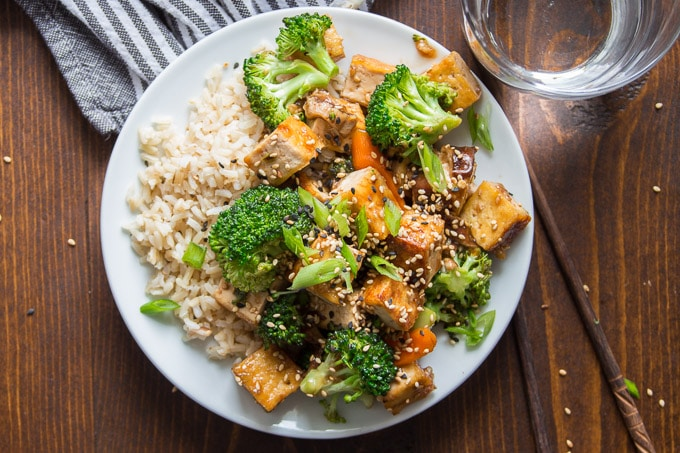 garlic tofu stir fry