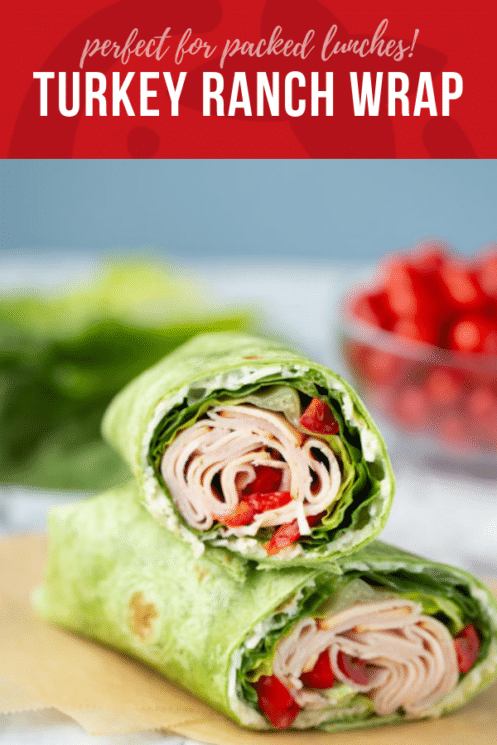 Perfect for Packed + School Lunches ....Turkey Ranch Wrap | Healthy Ideas and Recipes for Kids