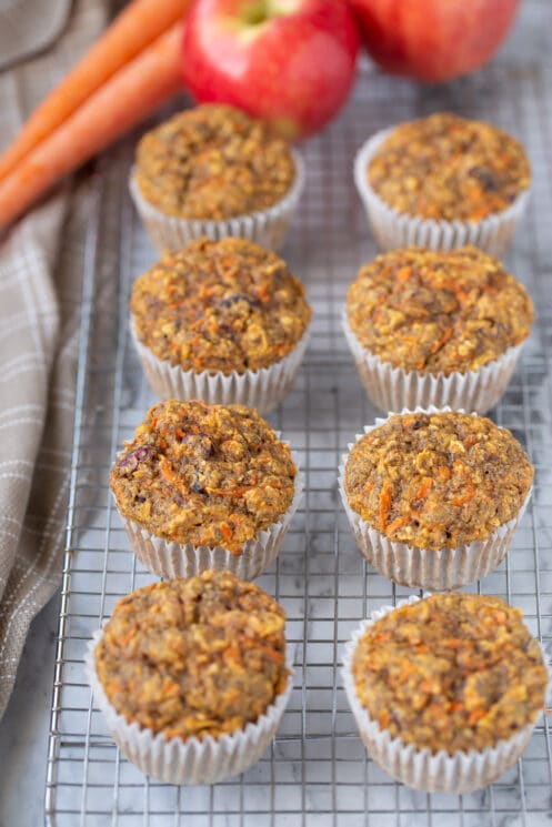 healthy whole grain flax muffins