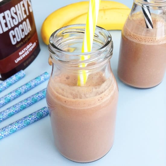 healthy homemade chocolate milk with no added sugar