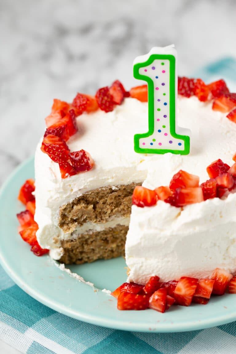 Baby's First Birthday Cake ~ Super Healthy Kids