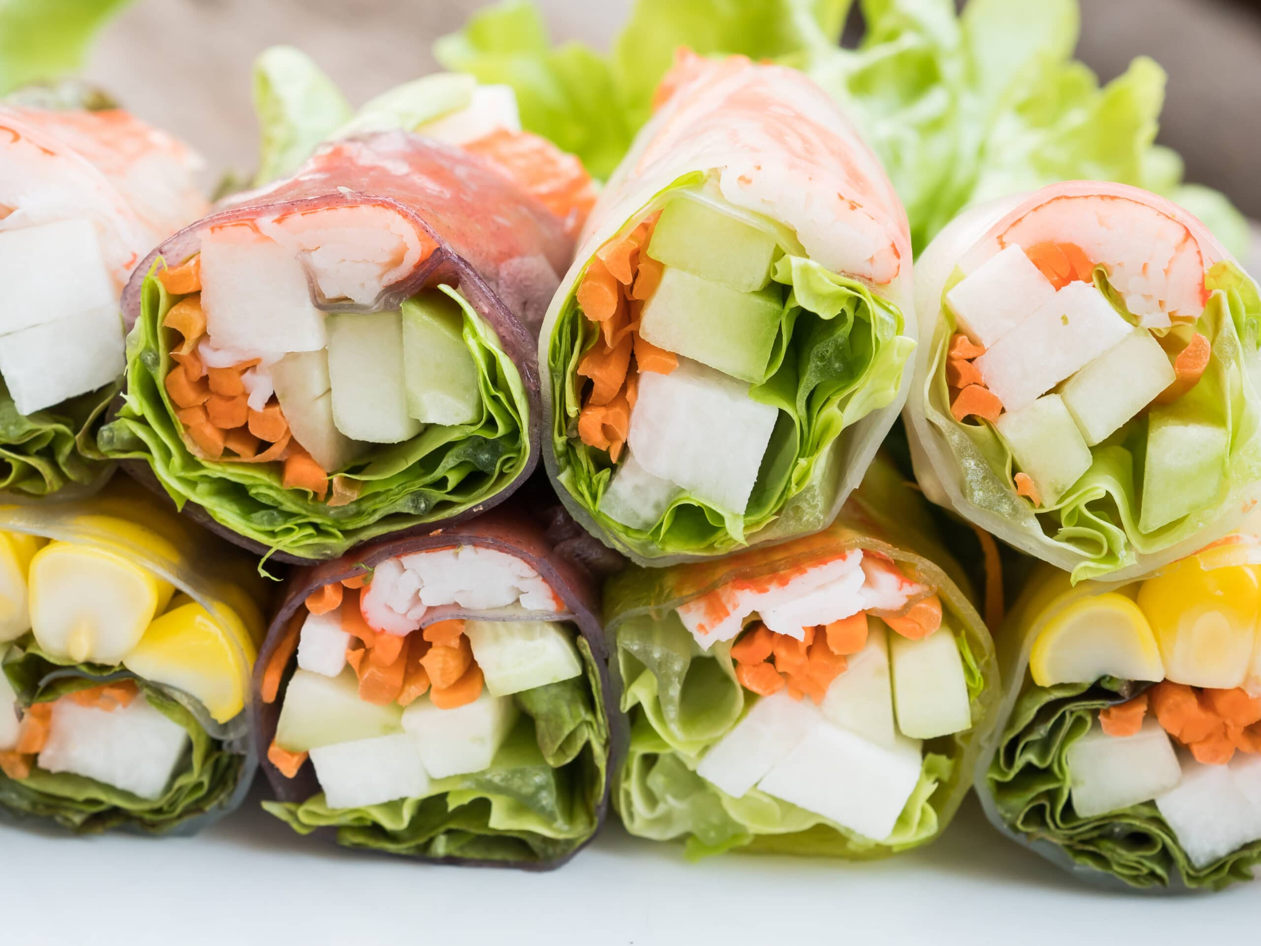 Chicken And Veggie Spring Rolls With Peanut Dipping Sauce Super Healthy Kids
