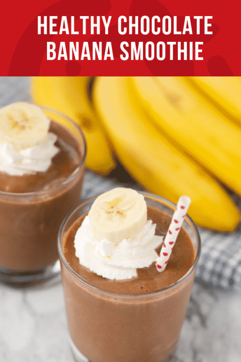 Healthy Chocolate Banana Smoothie | Healthy Recipes and Ideas for Kids | Super Healthy Kids | www.superhealthykids.com