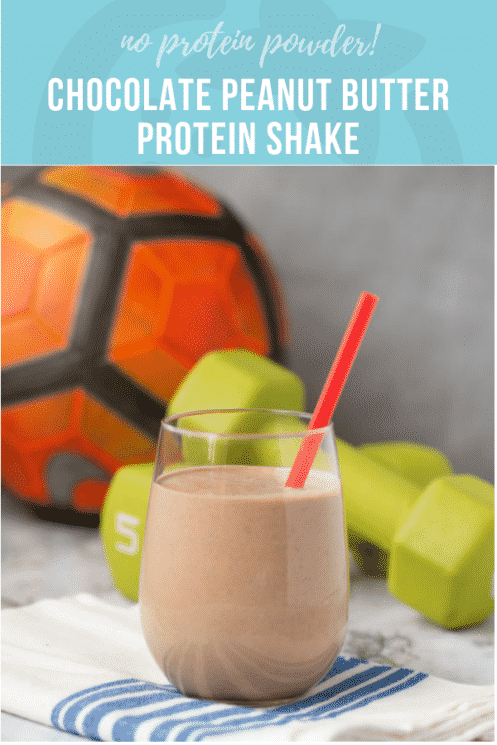 Chocolate Peanut Butter Protein Shake for Kids | Healthy Ideas and Recipes for Kids | Super Healthy Kids | www.superhealthykids.com