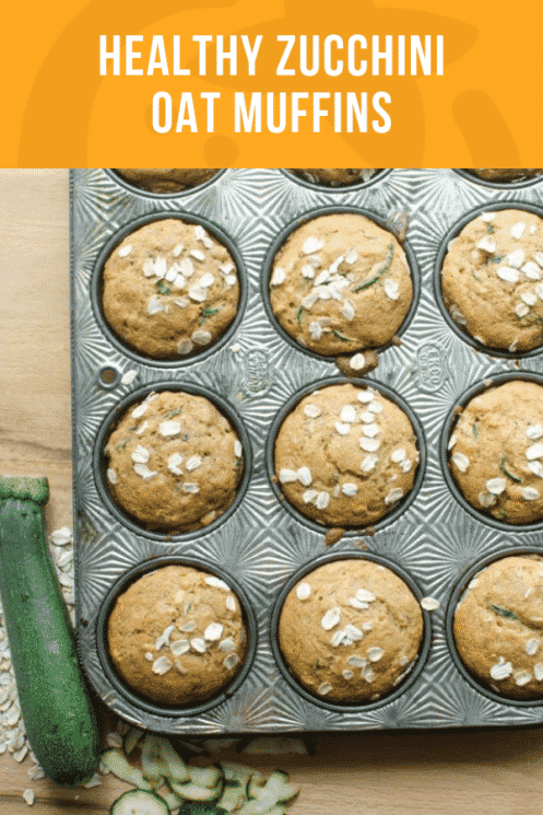 Healthy Zucchini Oat Muffins | Super Healthy Kids | Healthy Recipes & Ideas for Kids | www.superhealthykids.com