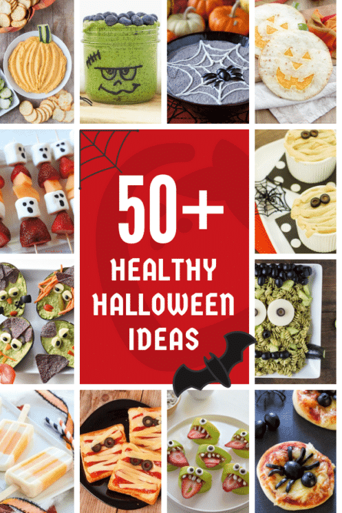 50 healthy halloween ideas collage