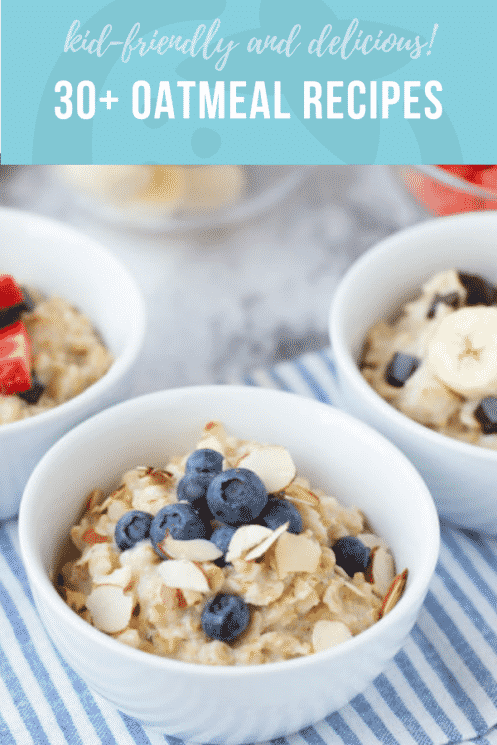 30 Kid Friendly Oatmeal Recipes | Super Healthy Kids | Healthy Recipes and Ideas for Kids | www.superhealthykids.com