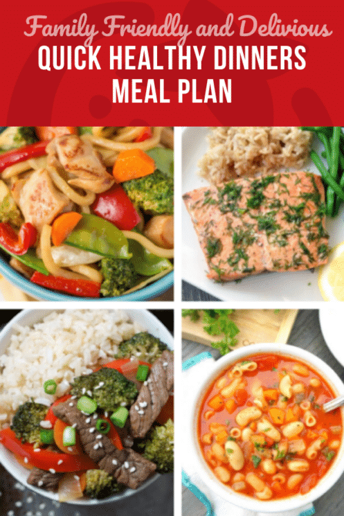 The Quick Healthy Dinners Meal Plan