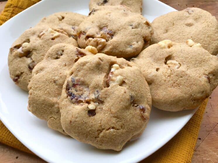 hermit cookies with dates and nuts poking out