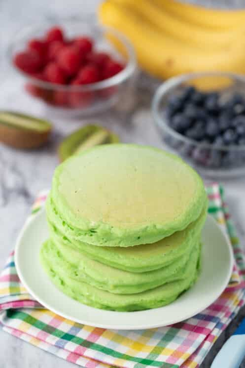 stack of sweet spinach pancakes