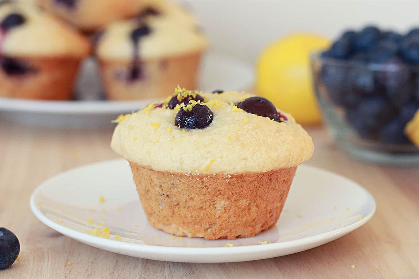Lemon Blueberry Muffin on a plate