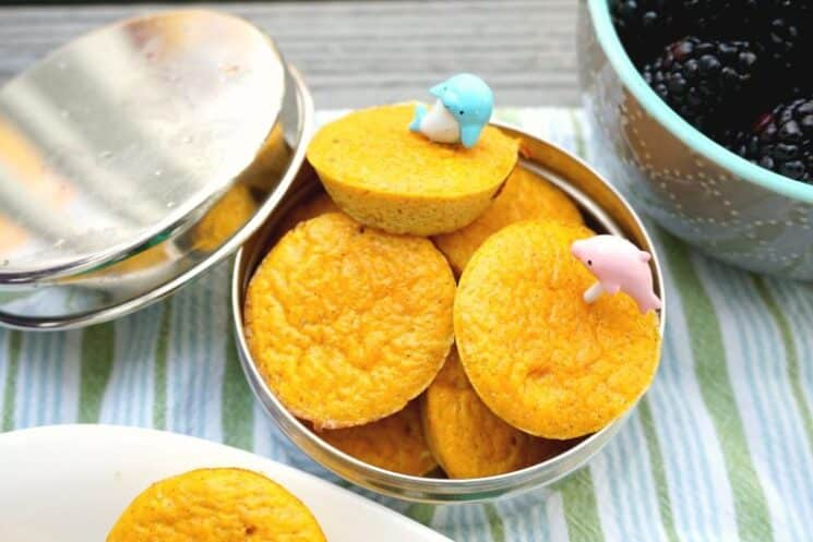 cute mini souffles with plastic food picks