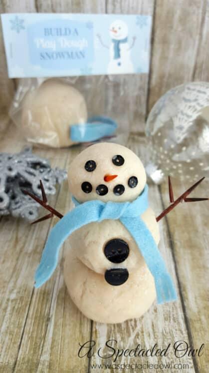 playdough shaped like a snowman