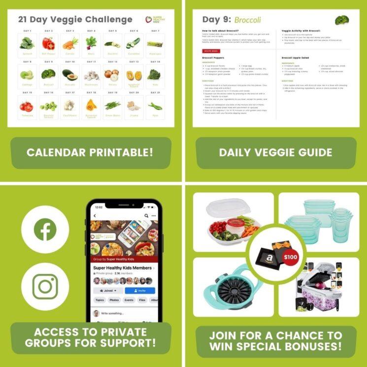 21 day veggie challenge header 1 – Health, Kids