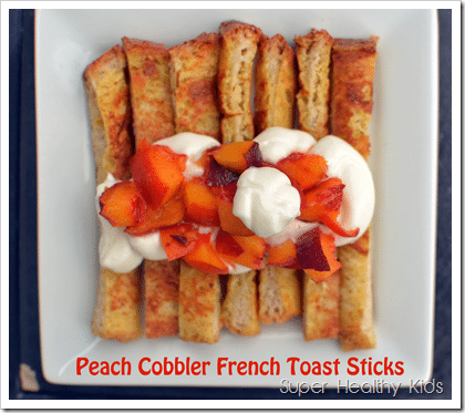 French Toast Peach Cobbler