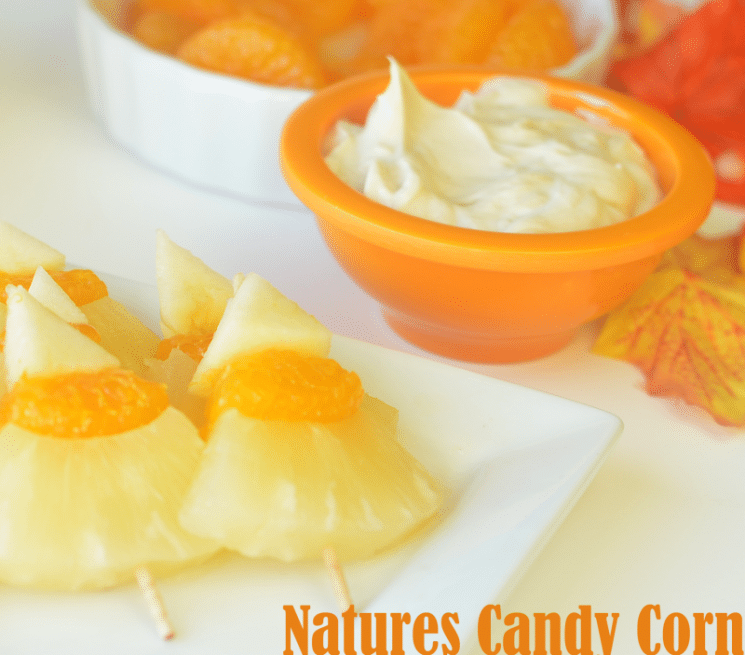 Nature's Candy Corn and Fruit Dip Recipe. Just in time for Halloween-the candy corn your family won't stop talking about