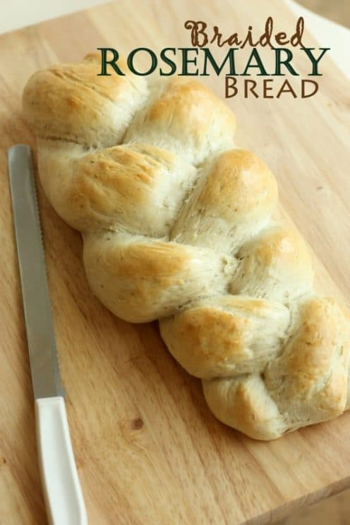 Rosemary Braided Bread. Step by step pictures on how to make this heavenly Rosemary bread!