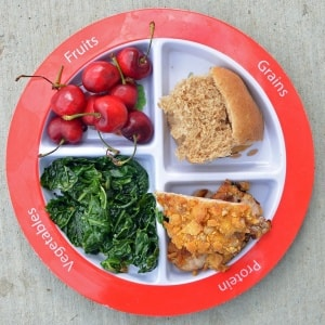 balanced and healthy meals on myplate