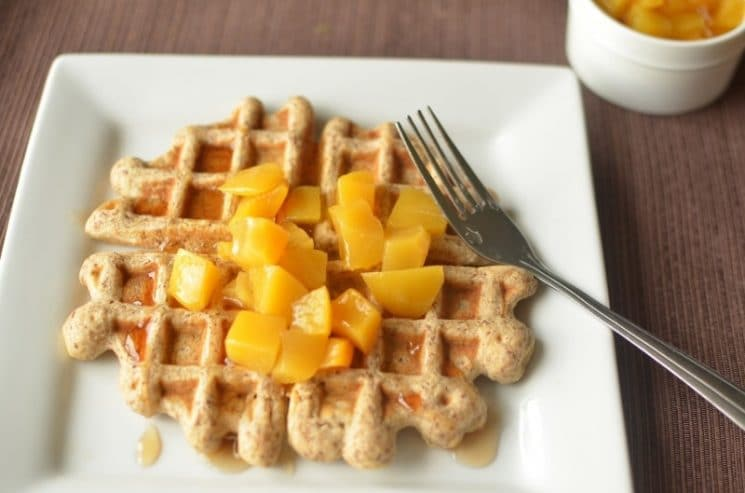Flax Freezer Waffles- Homemade and Toaster Ready. Let go of Eggo Waffles and other frozen breakfasts!