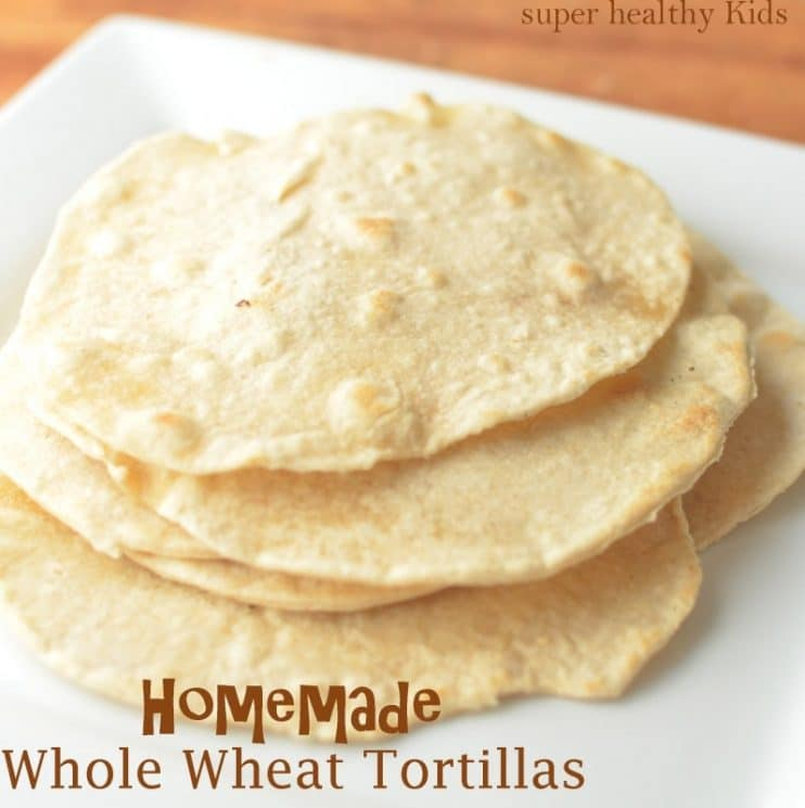 Homemade Whole Wheat Tortillas with Holiday Breakfast Burrito. Yes, you can do this yourself, and it's actually kind of fun!