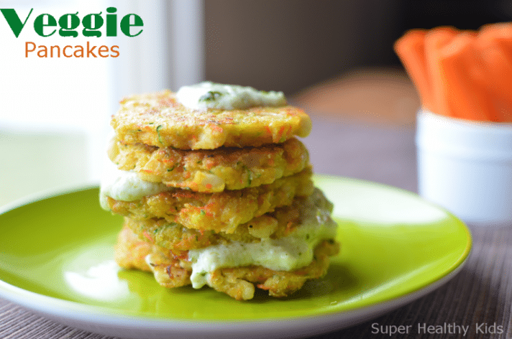 Veggie Pancake Recipe! Breakfast for Busy Kids! You can have veggie for breakfast, AND have the kids smiling about it!