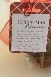 Christmas Potpourri. This makes a great gift for your neighbors!