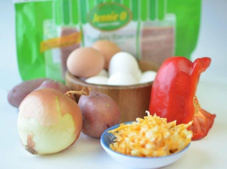 Personal Veggie Frittatas {Gluten Free!}. Here's a gluten free breakfast idea!