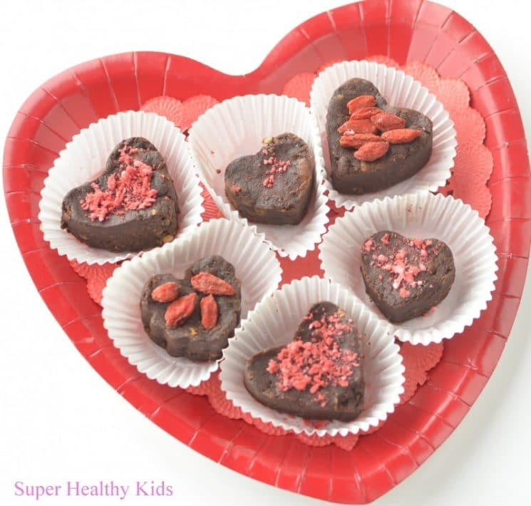 Heart Healthy Valentines Chocolates. These are also fun to make and decorate as a family!