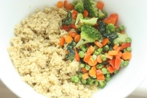 Roasted Vegetable Cheesy Quinoa Mac. Mac 'n Cheese you can feel good about!