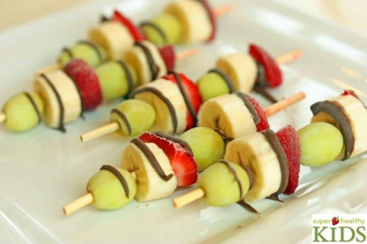 Frozen Fruit Kabobs. What do you think? With or without chocolate?
