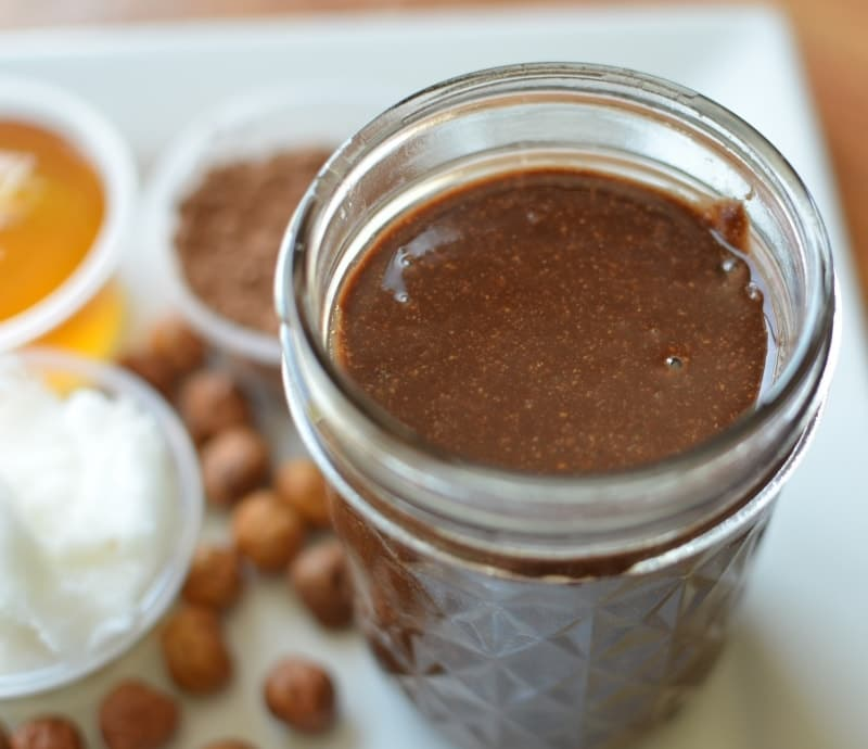 Hazelnutty Cocoa Spread Recipe {Homemade Nutella}. One of the homemade recipes we think tastes better than storebought!